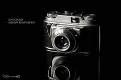 3x50x50 - Beier Beirette (Forty-9) Tags: camera blackandwhite bw reflection blackbackground canon vintage studio flash saturday ef50mmf18ii lightroom beier 2016 beirette niftyfifty eflens strobist strobism forty9 yongnuo eos60d 50x50x50 yongnuospeedliteyn560iv tomoskay niftyfiftyproject 18062016 18thjune2016 3x50x50 50x50x50project