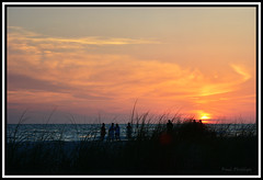 Sunset and Sea Oats (coldnebraskablue) Tags: sunset sky cloud beach gulfofmexico tampa landscape evening coast sand florida outdoor dusk dunes shoreline shore vegetation serene oats annamaria bradenton seagrass gulfcoast annamariaisland