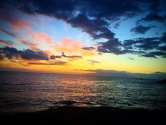 (Lorybusin) Tags: ocean sunset espaa colors spain tramonto colores puestadelsol