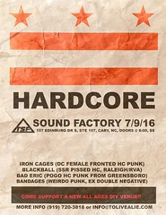 Iron Cages, Blackball, Bad Eric, Bandages (WillFastcore) Tags: bandages blackball baderic ironcages