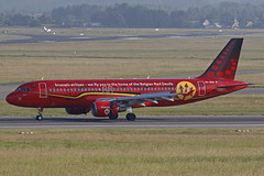 OO-SNA BRU 17.06.2016 (Benjamin Schudel) Tags: red brussels belgium devils airbus bru a320 oosna