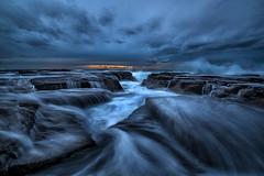 Z rocks  2 (anguslovelucas) Tags: seascape australia travell waves nsw z rocks northern sunrise