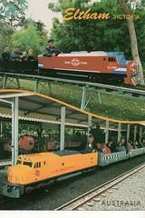 Eltham Victoria Australia (Liz Pidgeon) Tags: postcard eltham trestlebridge train diamondvalleyminiaturerailway miniaturerailiway