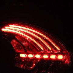 Red light (Moro972) Tags: light red italy black night canon reflex italia details tail rosso notte fanale dettaglio 2016 550d posteriore canon550d