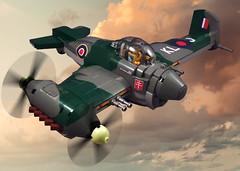 He-98 Halberd (JonHall18) Tags: plane war fighter lego aircraft fantasy pilot moc dieselpunk