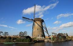 Nederland / Zuid-Holland - Kinderdijk - Nederwaard Molen no. 6 (Henny Brouwers) Tags: mill windmill dutch moulin mühle nederland molino molen mulino moinho windmolen