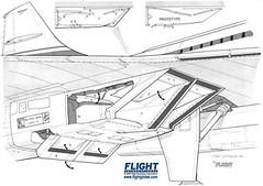 Aerospatiale Concorde Modified Intakes Cutaway Drawing (Flightglobal.com) Tags: drawing concorde mod