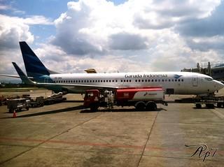 Garuda Indonesia GA651. 07.55 Jayapura (DJJ)-11.35 Makassar (UPG) #sentaniairpot #jayapura #indonesia #archipilago #visitindonesia #traveller #iphonesia #photography #airplane #garudaindonesia