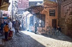 Marrakech Medina (Trouvaille Blue) Tags: travel shop bread lightandshadows cafe market northafrica morocco marrakech medina trouvailleblue 1001nightsmagiccity