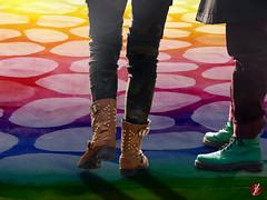 zwei (bornschein) Tags: woman fashion collage shoe rainbow schuh talkingshoes