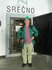 Paul ready to tour the mercury mine, Idrija, Slovenia (Paul McClure DC) Tags: mine mercury quicksilver historic slovenia slovenija primorska idria idrija paulmcclure aug2012