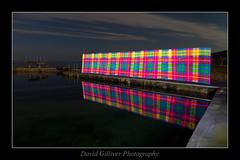Tartan Reflections (Pikebubbles) Tags: longexposure nightphotography lightpainting reflection lightgraffiti nightography davidgilliver lightjunkies pixelstick davidgilliverphotography