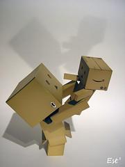 Tous les deux (Estellanara) Tags: toy japanese danbo danboard