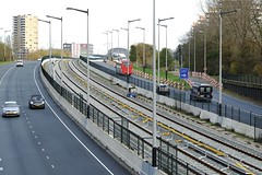 NZlijn 2014-11-17 at 13-39-39 (Guda G) Tags: amsterdam metro metrostation noordzuidlijn amsterdamnoord buikslotermeer geluidsscherm inaanbouw nieuweleeuwarderweg