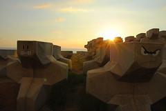 Raouché (guillaumeguerinot) Tags: city travel lebanon streetart seaside rocks faces wallart urbanexploration beirut k4 beyrouth liban raouche guerinotguillaume agencek4 photoregency