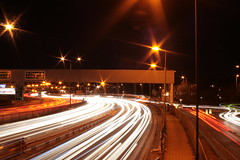 Night Light (wltmauc) Tags: night lights timelapse with traffic bored interchange brentcross