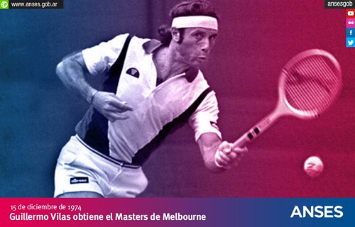 15 de diciembre. Guillermo Vilas obtiene el Masters de Melbourne