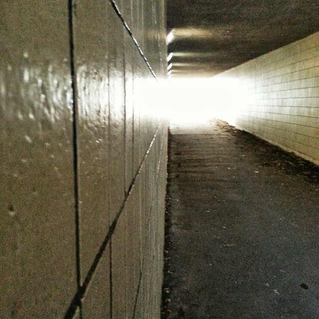 Is there #light at the end of the #tunnel ? Nope, just a cold day
