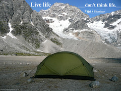 Live life, don't think life.