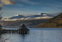 Ben Lawers, Loch Tay and the Crannog (bradders29) Tags: winter mountain snow scotland loch crannog lochtay benlawers