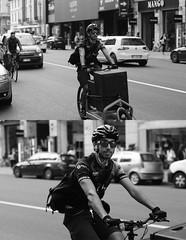 [La Mia Citt][Pedala] UBM (Urca) Tags: portrait blackandwhite bw bike bicycle italia milano bn ciclista biancoenero mir bicicletta 2014 ubm pedalare 6982 dittico nikondigitale urbanbikemessenger ritrattostradale
