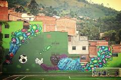 MURAL FUTBOLERO (NUMAK CKC/MDZ) Tags: streetart graffiti graffity hiphop mak mdz muralismo mae graffiticolombia sudamericagraffiti numak colombiakartelcrew graffitymedellin medekingz latingraffity