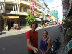 Photo de 14h - Devant l'auberge à Phnom Penh (Cambodge) - 12.12.2014