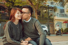 Couple: Hng  Nht (DragonNT and DoubleTL) Tags: winter sunset portrait lake west love vintage happy nikon hug kiss couple afternoon vietnam kit hanoi nam puk ni yu h h ty vit tnh k 18105mm d7100 brcrew doubletl dragonnt