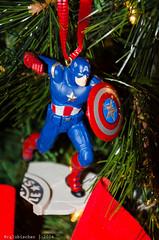 Christmas 2014 - X (RGL_Photography) Tags: christmastree ornaments marvel merrychristmas captainamerica christmasornaments otannenbaum nikon18105mmf3556vr nikond7000 christmas2014