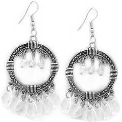 5th Avenue White Earrings P5611A-2