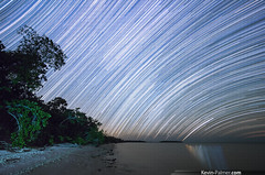 Southern Trails (kevin-palmer) Tags: trees winter sky reflection green beach gulfofmexico water lines night stars s