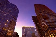 Aria, Las Vegas (mswan777) Tags: city travel las vegas sunset color buildings lights nikon cityscape nevada wide sigma casino resort strip 1020mm d5100