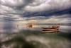 Dark of evening (Nejdet Duzen) Tags: trip travel sunset reflection nature turkey boat fishing cloudy türkiye sandal karina dalyan günbatımı yansıma turkei seyahat aydın doğa kayık söke balıkçılık bulutlu