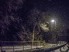 Winter's Night (Chains of Pace) Tags: winter snow storm oklahoma night fence sony guymon