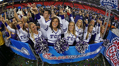 TCU Wins The Peach Bowl (paulmoseleyphotos) Tags: atlanta cowboys canon ga germany mississippi volkswagen georgia stars paul eos nhl photo dallas high university texas photographer fort nfl peach photojournalism bowl german porsche frogs wilson worth cayman gti tcu 1972 boxster nba rangers mavs moseley woodrow fuchs carrera mavericks rebels mlb r32 928 horned 356 914 911t macan 911s 911sc 911e cayenna 911l paulmoseleyphotos 0131tcupeachbowlolemissbig12atlantageorgia