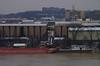 Coal dock at river terminal (durand clark) Tags: cincinnati coal barge ohioriver coalbarge bigandy coalsilos pentaxk5