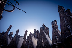 Hogsmeade Rooftops (flippers) Tags: roof vacation chimney usa holiday snow america orlando rooftops unitedstates florida wizard magic harrypotter roofs universal themepark chimneys crooked islandsofadventure hogsmeade universalislandsofadventure wizardingworldofharrypotter