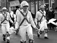 Whittlesea Straw Bear Festival (Trojan_Llama) Tags: england bw english 120 film monochrome festival mediumformat dancers dancing folk bronica morris tradition rodinal ilford sqa hp5plus whittlesea 2015 whittlesey strawbear ploughmonday 150mmf4ps
