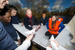 Land ahoy! Young engineers launch giant origami paper boat
