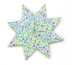Fujimoto square Rosette  31 front (Pliages et vagabondages) Tags: square origami rosette décoration déco fujimoto