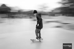 Skater in movement (.Alejandro Rubio.) Tags: longexposure blackandwhite bw byn blancoynegro argentina argentine sport blackwhite movement buenosaires skateboarding skate skater deportes alerubio