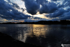 Artificial Lake called Dry Lake (RuiFarinha's Photography) Tags: sunset portugal nature clouds landscape photography nikon photos ilovephotography naturephotography artificiallake