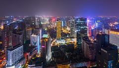 Chengdu south skyline (Philippe Lejeanvre - ) Tags: china skyline night chengdu sichuan