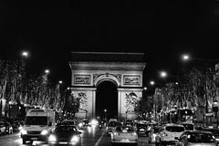 Vintage look of Arc De Triomphe. (Anshul Roy) Tags: bw paris france vintage nikon europe arcdetriomphe nikond3200