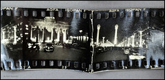 35mm Film Contact Print Paper Rolls (03) (Hans Kerensky) Tags: berlin film night 35mm paper print with kodak 1938 before holes german ww2 rolls contact agfa 1939 1937 sprocket panatomic isopanf
