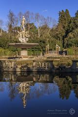 Giardini di Boboli, Firenze (filippi antonio) Tags: blue sky italy water fountain reflections garden florence italia blu cielo tuscany firenze toscana acqua riflessi fontana boboli giardini