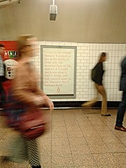 To one who has been long in city pent, 'Tis very sweet to look into the fair And open face of heaven (London Permaculture) Tags: life london underground poster penguin tube stpauls advert commuter keats thoreau helppoint