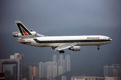 Alitalia MD-11  'I-DUPB' (Longreach - Jonathan McDonnell) Tags: hongkong scan 1998 1990s alitalia kaitak scanfromaslide vhhh idupb