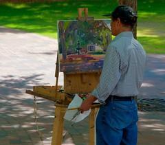 Spring time in the park..... (tvdflickr) Tags: art painting georgia nikon artist brush painter d750 marietta easel paints mariettageorgia nikond750
