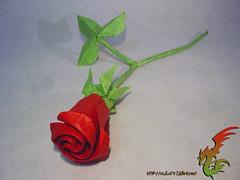 One Sheet Rose (Rydos) Tags: flower art rose paper one origami brian korean chan sheet designed roseday hanji brianchan onesheetrose koreanpaper
